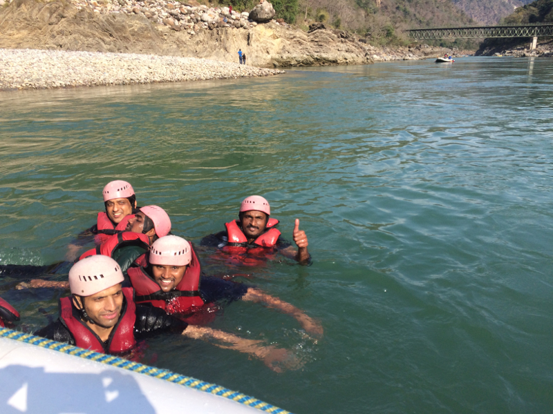 During River Rafting on the Ganges